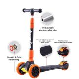Royalbaby kids children black-orange 3 wheels scooter Tilt to Turn LED spin and flash light